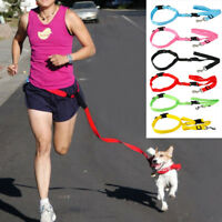 Hands Free Nylon Running Dog Leash Adjustable Waist Belt Lead for Dog Walking
