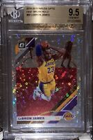 2019 LeBron James DONRUSS OPTIC FAST BREAK HOLO REFRACTOR #60 BGS 9.5 PSA lakers