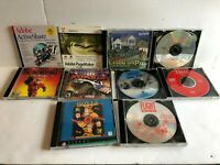Vintage PC CD Rom Lot x10 Adobe Dsney The Incredibles Monster Truck Hoyle Casino