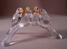 SWAROVSKI CRYSTAL BABY LOVEBIRDS 199123 MINT BOXED RETIRED RARE