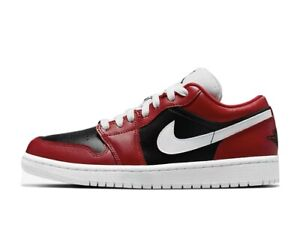 Nike WMNS Air Jordan 1 Low Gym Red Chicago Flip Size 12W Mens 10.5 (DC0774-603)