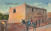 Postcard Oldest House in America Santa Fe New Mexico