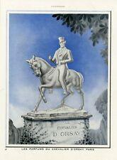 """""""LE CHEVALIER D'ORSAY""""Annonce originale entoilée ILLUSTRATION années 30 30x40cm"""
