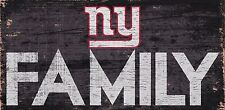"NY New York Giants FAMILY Football Wood Sign - NEW 12"" x 6""  Decoration Gift"