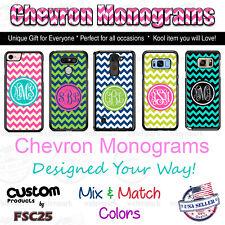 Chevron Monogram Personalized Phone Case fits iPhone Samsung s9 J7 Google LG etc