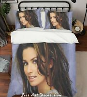 3D Shania Twain Rock Star Quilt Cover Set Pillowcases Duvet Cover 3pcs Bedding