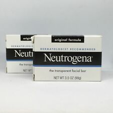 2 Neutrogena Transparent Facial Bars 3.5 oz Original Formula