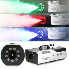 1500W 3in1 RGB LED DMX Nebelmaschine Smoke Fogger Rauchmaschine BENUTZT