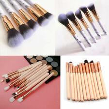 12/10pcs Make Up Brushes Eyeshadow Eyeliner Lip Powder Foundation Blusher Set UK