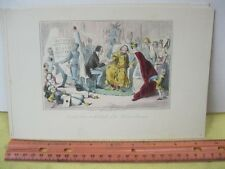 Vintage Print,EDWARDS ARM,Leech,Comic History Rome+England,c1850