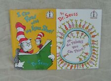 "Classic Seuss: ""I Can Read With My Eyes Shut & Oh The Thinks You Can Think"" NEW"