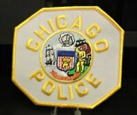 Patch Retired:  Chicago. Il. Police Dept. Patch (Yellow Letters/Yellow Edges)