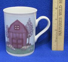 Coffee Mug Cup Design by Mindy Cain Springtime Barn Farmhouse Farm Shed Spring