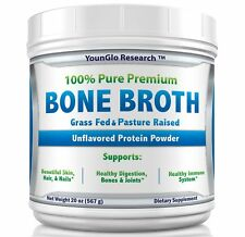 Bone Broth Protein Powder from Grass Fed Beef - 20 oz - Unflavored