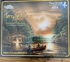 Terry Redlin White Mountain Puzzles Exclusive Collection Eve. Rendezvous NWT