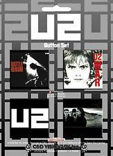 U2 pack of 4 pin badges    (cv)