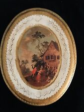 Italian Toleware Carved Art Wall Picture Gold Ornamental Wood Florentine Italy