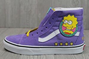 57 Rare Vans x SK8-Hi The Simpsons Lisa 4 Prez Skate Shoes Mens Sz 5-9.5