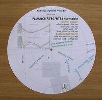 Fluance RT80 & RT81 Custom Designed Tonearm Cartridge Alignment Protractor