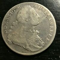 1771 GERMANY BAVARIA SILVER THALER HUGE CROWN COIN