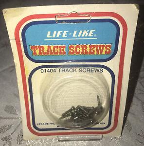 VINTAGE LIFE-LIKE Track Screws #01404 Black 24 Count NIP