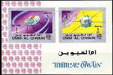 Umm al Qiwain 1966 ** Bl.5 B Weltraum Satelliten Space Satellites ITU