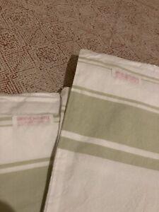 "rachel ashwell shabby chic Green Stripe 26"" Euro Pair"