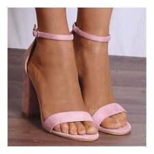BABY PALE PINK BARELY THERE STRAPPY SANDALS HIGH HEELS PEEP TOES SHOES SIZE  3-8 47d3a655d