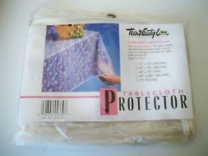 Clear Vinyl Tablecloth Stain Protector Durable Dining Table Protector Cover60x90