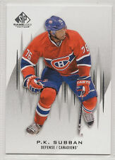 12/13 13/14 UD SP GAME USED SPGU P.K. SUBBAN LOT (3)