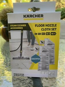 KARCHER GENUINE REPLACEMENT MICROFIBER CLOTH SET FOR FLOOR NOZZLE NEW IN A BOX