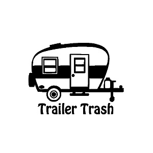 "5"" Trailer Trash Decal for your RV Travel Trailer Camping Garbage Can"