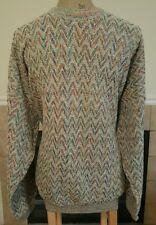 Vntg Tundra Multicolor Men's Crewneck Sweater Cosby Biggie Coogi Style Sz XL EUC