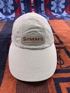 SIMMS Fly Fishing Wide Long Bill Brim Hat Sun Protection Cap Bozeman Montana