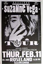 "SUZANNE VEGA ""99.9F TOUR"" 1992 PORTLAND CONCERT POSTER - Eclectic Folk Music"