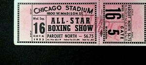 All Star Boxing Show Ticket Stub Chicago Stadium September 16 1953 Carlo Sarlo