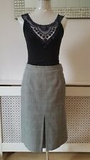 Genuine Vintage Tweed Wool Dogtooth Skirt Size 10 Strathmore Made in Scotland
