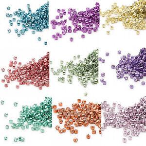1200 Miyuki Delica 11/0 Galvanized Metallic Round Glass Seed Beads   7.2 Grams