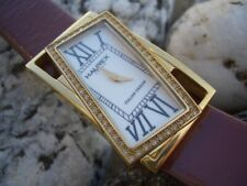 WATCH HAUREX ITALY STILE ORIGINALE CON ZIRCONI BIANCHI MOV. SWISS QUARZ