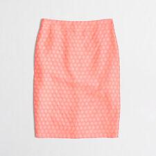 J.CREW NWT Women's Pink Polka Dot Pencil Skirt-  Size 8P- Retails $90