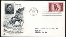 US FDC, SC#973, Prescott AR, Rough Riders, ArtCraft, 1948