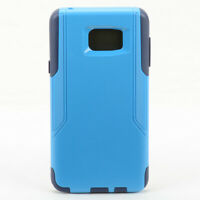 For Samsung Galaxy Note 5 Dual Layer Shockproof Hard Snap Case Cover - Navy Blue