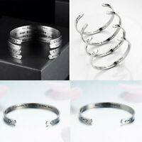 Fashion Women Stainless Steel Bracelet Bangle Jewelry Summer Gift Father Friends
