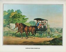 "1978 Vintage ""LIFE IN THE COUNTRY"" FARMERS FARM CURRIER & IVES COLOR Lithograph"