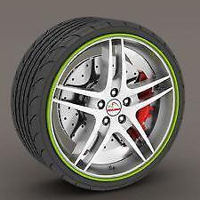 "GREEN Alloy Wheel Protector Rim Trim Strips 13"" to 22"" RIMBLADES M17/5"