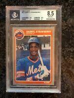 1985 Fleer Baseball #93 Darryl Strawberry BGS   8.5 Beckett