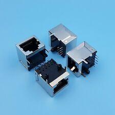 10Pcs RJ45 Network Ethernet 8P8C Female Socket Connector 8Pin PCB Mount