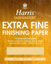 4 x Harris Extra Fine Finishing Sandpaper Sheets Wall Celing Paint Sanding DIY