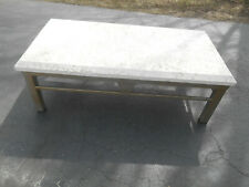 Mid-Century Palm Beach Regency Coral Top Coffee Table by Koralith Collection