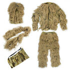 Tactical Camouflage Ghillie Suits 3D Woodland Sniper Clothe Jungle Hunting Suit